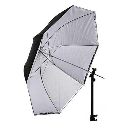 Interfit 43 inch Translucent/Silver Convertible Umbrella