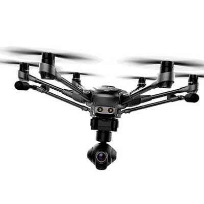 Yuneec Typhoon H Hexocopter Drone with Backpack and Two Batteries