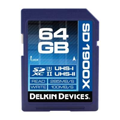 Delkin 64GB 1900x UHS-II SDXC Memory Card
