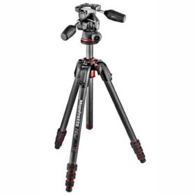 Manfrotto 190 Go Carbon Fibre Tripod with 3-Way Head