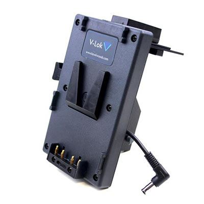 Hawk-Woods V-Lok Sony FS7 Camera Adaptor – 5x Power-Con