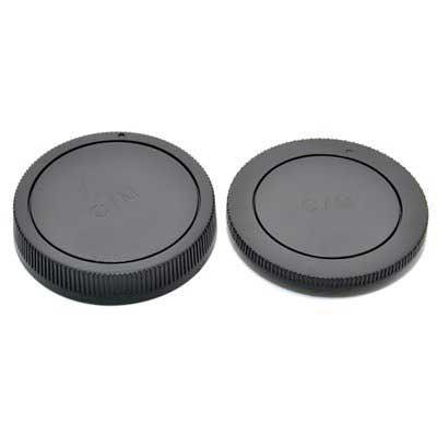 Image of JJC Rear Lens Cap / Body Cap Combo - Canon EOS-M Fit