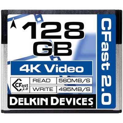 Image of Delkin 128GB (560MB/Sec) Cinema CFast 2.0 Card