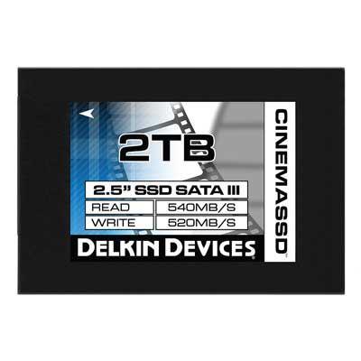 Delkin 2TB (560MBSec) 2.5 Inch Cinema SSD Drive