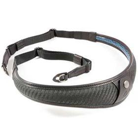 4V Design ALA TOP Carbon Leather/Black Metal Ring