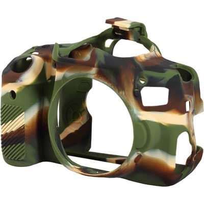 Image of Easy Cover Silicone Skin for Canon 750D Camo Pattern