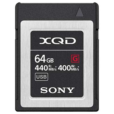 Image of Sony 64GB XQD Flash Memory Card - G Series (Read 440MB/s and Write 400MB/s)