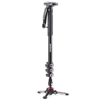 Manfrotto XPRO Video 4 Section Aluminium Monopod with 577 Video Adapter