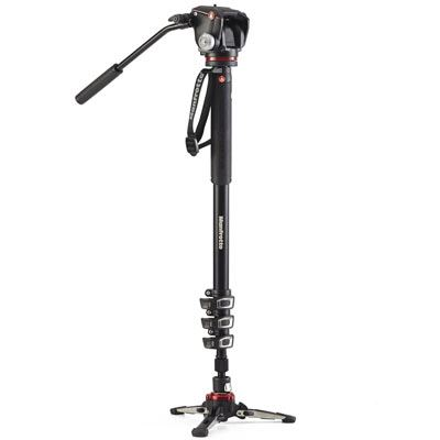 Manfrotto XPRO Video 4 Section Aluminium Monopod with MHXPRO-2W Head