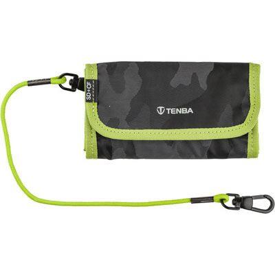Tenba Tools Reload SD6+CF6 Card Wallet Black Camo/Lime