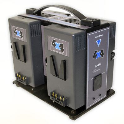 Image of Hawk-Woods VL-4X4 4-Channel V-Lok Lithium-Ion Fast Charger Simultaneous