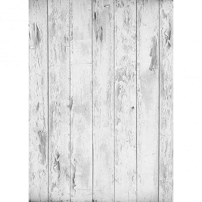 Westcott Basics X-Drop Background Cloth - Mist Distressed Wood