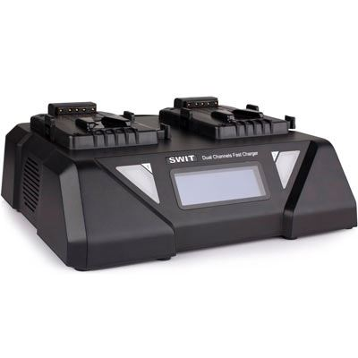 Swit S-3812S 2-ch V-Lock Fast Charger