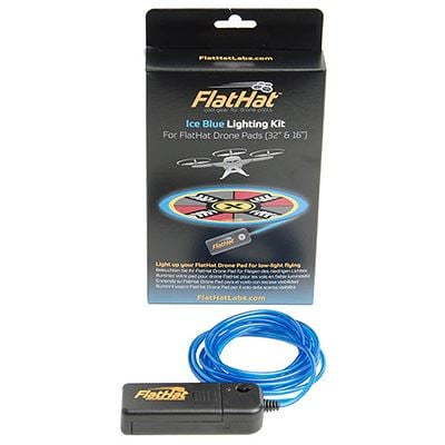 "Image of FlatHat Lighting Kit for 32"" Drone Pad - Ice Blue"