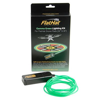 "Image of FlatHat Lighting Kit for 32"" Drone Pad - Gamma Green"