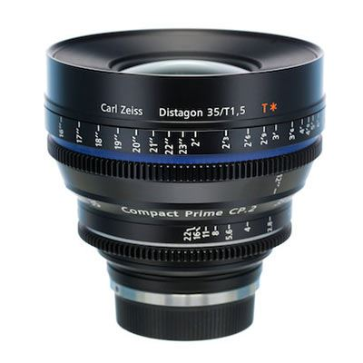 Zeiss 35mm T1.5 CP.2 Cine Prime T* Lens – Canon EF Mount (Metric/Super Speed)