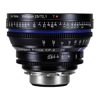 Zeiss 25mm T2.1 CP.2 Cine Prime Lens  T Lens  Nikon F Mount (Feet)