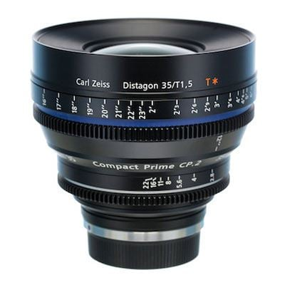 Zeiss 35mm T1.5 CP.2 Cine Prime T* Lens -  Nikon F Mount (Metric/Super Speed)