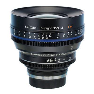 Zeiss 35mm T1.5 CP.2 Cine Prime T* Lens -  Nikon F Mount (Metric/Super Speed)