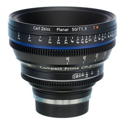 Zeiss 50mm T1.5 CP.2 Cine Prime T* Lens - Nikon F Mount (Metric/Super Speed)