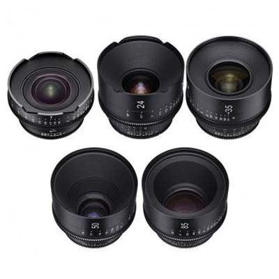 Samyang Xeen 5 Cinema Lens Kit (14 T3.0/24/35/50/85mm T1.5)