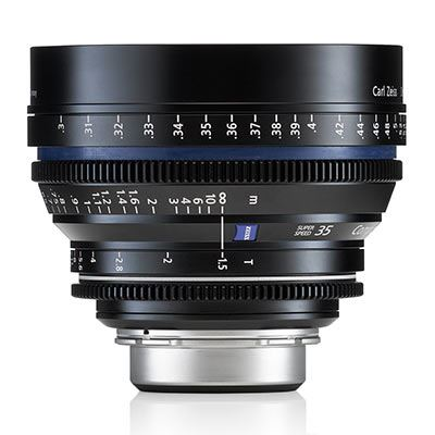 Used Zeiss 35mm T1.5 CP.2 Cine Prime T* Lens - PL Mount (Feet/Super Speed)