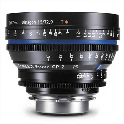 Zeiss 15mm T2.9 CP.2 Cine Prime T* Lens - Sony E Mount (Metric)