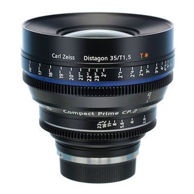 Zeiss 35mm T1.5 CP.2 Cine Prime T* Lens - Sony E Mount (Metric / Super Speed)