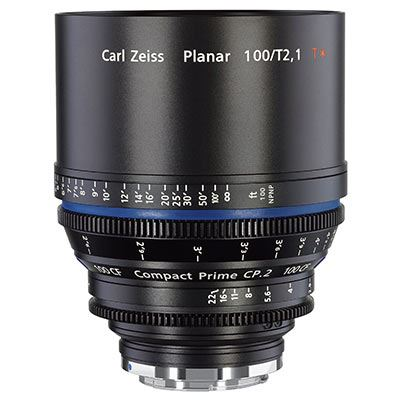 Zeiss 100mm T2.1 CP.2 CF Cine Prime T* Lens - Sony E Mount (Metric)