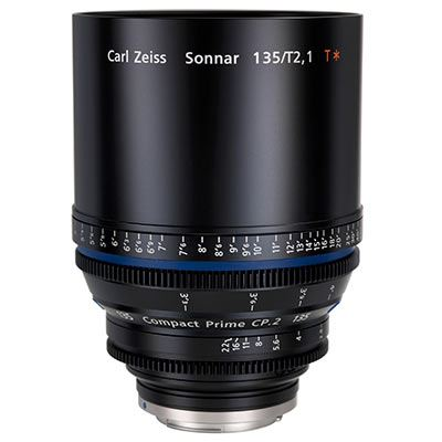 Zeiss 135mm T2.1 CP.2 Cine Prime T* Lens - Sony E Mount (Metric)