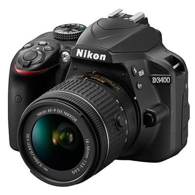 Nikon D3400 Digital SLR Camera with 18-55mm AF-P DX Non VR Lens