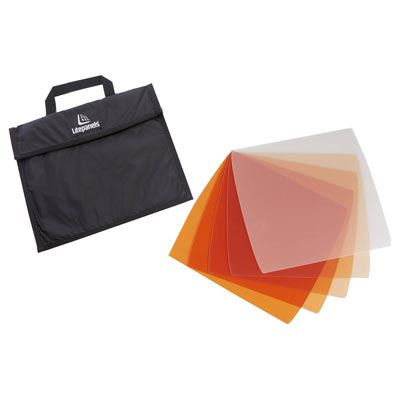 Image of Litepanels Astra 1x1 5-piece CTO Gel Set with Bag