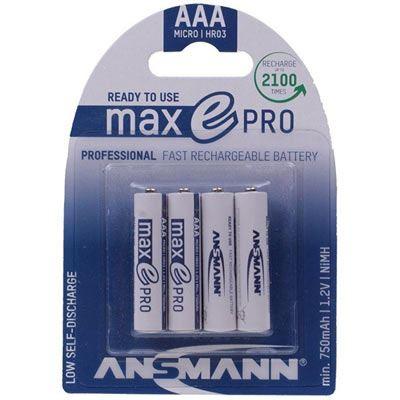 Image of Ansmann AAA 750mAh MaxE Pro (4 Pack)
