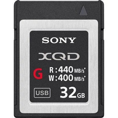 Sony 32GB XQD Flash Memory Card - G Series (Read 440MB/s and Write 400MB/s)