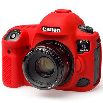 Easy Cover Silicone Skin for Canon 5D Mark IV  Red