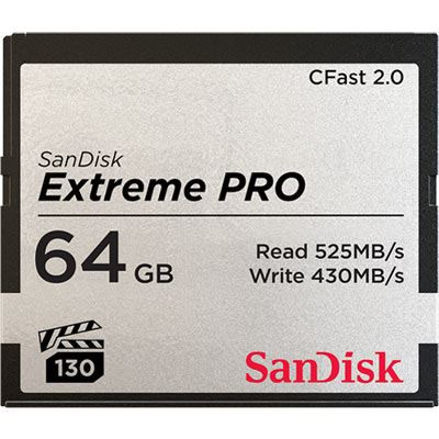 SanDisk 64GB Extreme Pro (525MB/Sec) CFast 2.0 Memory Card