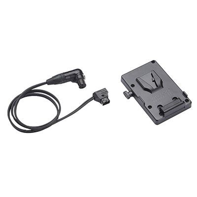 Image of Litepanels Anton Bauer V-Mount Battery Bracket with P-Tap to 3-Pin XLR Cable