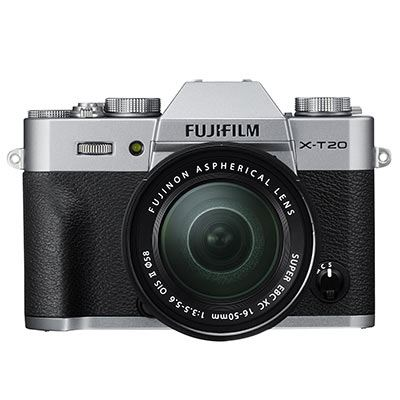 Fuji X-T20 with XC 16-50mm Mark II Lens - Silver