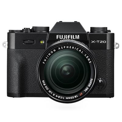 Fuji X-T20 with XF 18-55mm Lens – Black