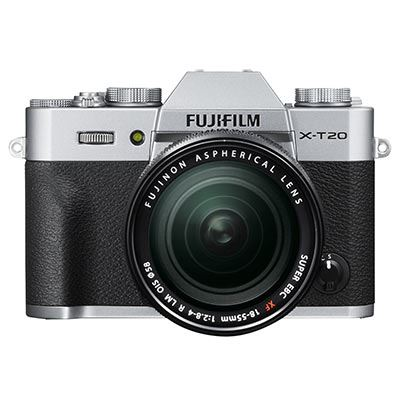 Fuji X-T20 with XF 18-55mm Lens – Silver