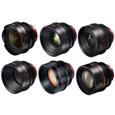 Used Canon CN-E 6 Cine Lens Bundle
