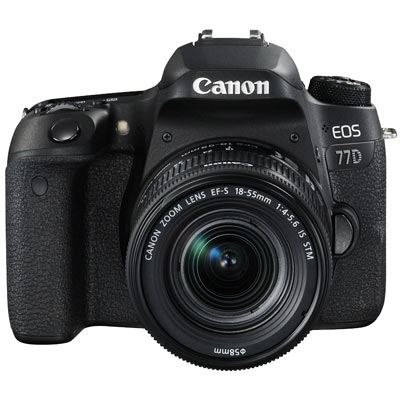 Canon EOS 77D Digital SLR Camera with 1855mm IS STM Lens