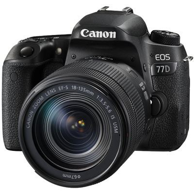 Canon EOS 77D Digital SLR Camera with 18135mm IS USM Lens