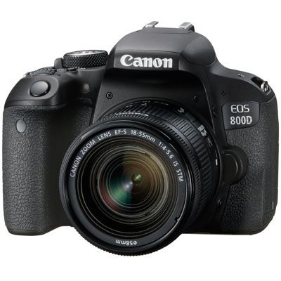 Canon EOS 800D Digital SLR Camera with 1855mm IS STM Lens