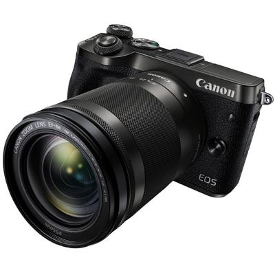 Image of Canon EOS M6 Digital Camera with 18-150mm Lens - Black