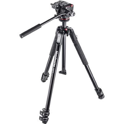 Used Manfrotto 190X Aluminium 3 Section Tripod with XPRO Fluid Head