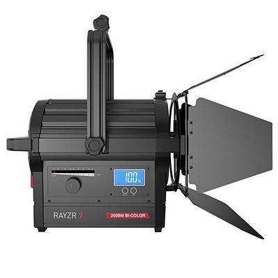 Rayzr 7 200BM Bi-Colour 7 Inch LED Fresnel Light - Premium Pack