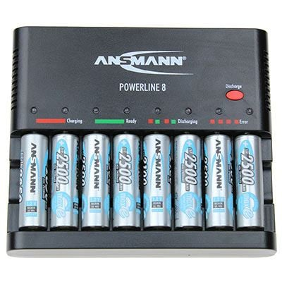 Image of Ansmann Powerline 8 w/ AA Maxe Pro x 4