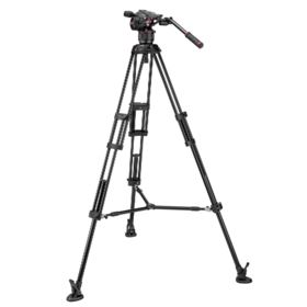 Used Manfrotto Nitrotech N8 and 546B Twin Leg Tripod with Mid Spreader