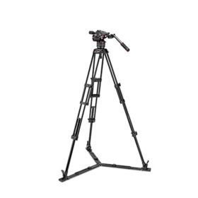 Manfrotto Nitrotech N8 and 546GB Twin Leg Tripod with Ground Spreader
